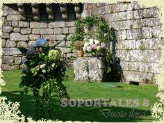 SOPORTALES 8 Diseño floral: BODA MARCOS & AZU EN EL CASTILLO DE SOUTOMAIOR