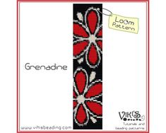 Loom Bracelet Pattern: Grenadine - INSTANT DOWNLOAD pdf - Special savings with coupon codes - bl198