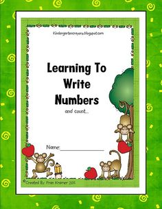 nice printables for number writing and number decomposing