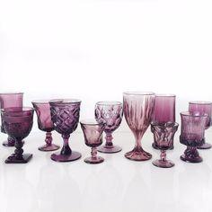 borrowed BLU//Purple Pressed Goblets