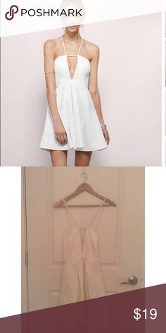 White strappy v neck dress with tags Beautiful and never worn! Was not my size Tobi Dresses Mini