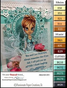 Passionate Paper Creations: Color Palettes  Jane - Little Darlings Rubber Stamps!