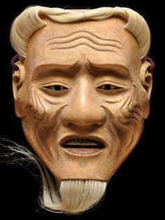 Japanese Noh mask 皺尉