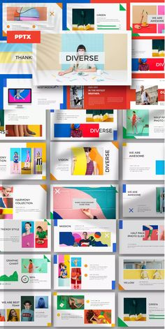 DIVERSE - Powerpoint Template by dirtylinestudio on Envato Elements Presentation Deck, Brand Presentation, Presentation Design Template, Ppt Design, Business Presentation, Background For Powerpoint Presentation, Slide Design, Powerpoint Design Templates, Brand Strategy Template