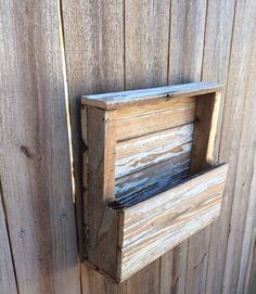 Rustic wall hanging mail organizer with by ShopSweetlySalvaged