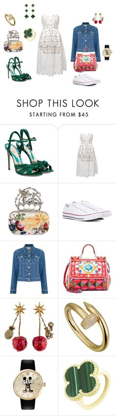 """Day to Night"" by maya-lili on Polyvore featuring Gucci, self-portrait, Alexander McQueen, Converse, EGREY, Dolce&Gabbana and Van Cleef & Arpels"
