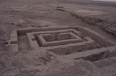URUK - Temple de Pierre au pied de la Ziggourat du Temple Blanc.