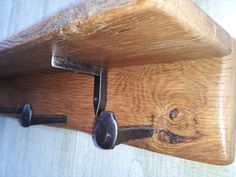 railroad spike barn wood wall mount coat rack by DeadWoodRising