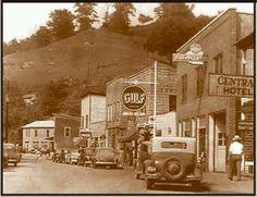 Knott County Kentucky. Main street of Hindman.