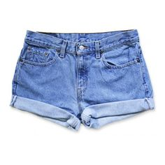 Vintage 90s Levi's Light/Medium Stone Washed Blue Wash Mid-High... ($44) ❤ liked on Polyvore