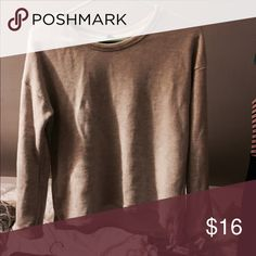 Oatmeal crop sweater Semi cropped Forever 21 Sweaters Crew & Scoop Necks