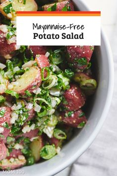 Best Mayonnaise Free Potato Salad: Sometimes you just want a great potato salad without the mayo - this one has classic flavors and comes together in 20 minutes. via @katieworkman100