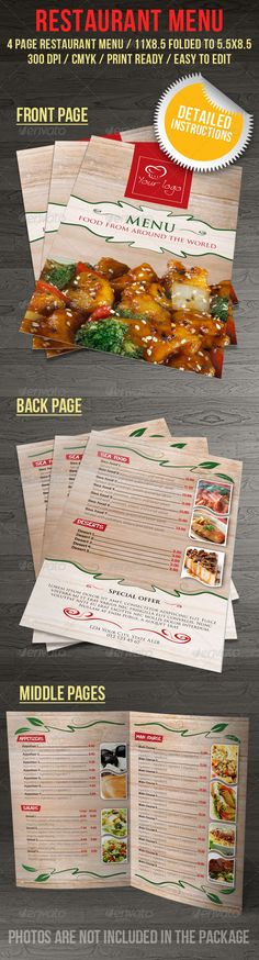 Food Menu 02 Food menu, Menu and Food menu template - food menu template