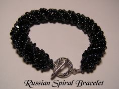 Black Russian Spiral Bracelet