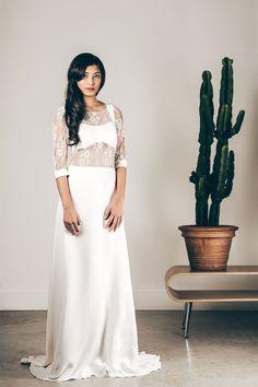 Les robes de mariée de Caroline Quesnel - Collection 2016 | Modèle : Louti | Crédits: Olivier Ramonteu | Donne-moi ta main - Blog mariage