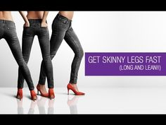 7 days to longer and leaner legs. Fast Weight Loss, Weight Loss Tips, Youtube Workout Videos, Get Skinny Legs, Skinny Jeans, Lose Fat Workout, Lean Legs, Fat Burning Tips, Fitness Tips