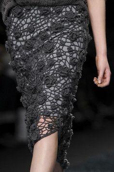 Lovely crocheted skirt.