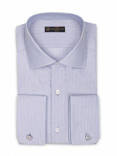 Beige slim-fit micro-structured Superlight cotton #shirt, small open collar. #Corneliani #FW16 #accessories