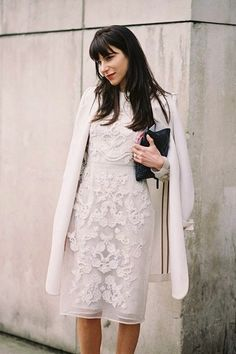Elegant in All White and Lace