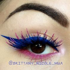 BEAUTY & MAKEUP - Sugarpill Dolliopop eyeshadow and Anastasia Beverly Hills Hypercolor lash tints