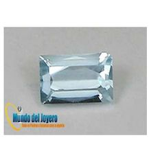 5x3mm Agua Marina Glass Rect(Un)