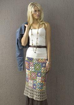 Archena, Granny Square Chic Skirt: free pattern