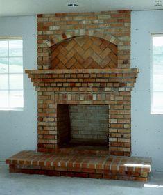 brick fireplace - Google Search