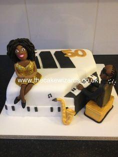 Motown cake........ Diana Ross and Stevie Wonder