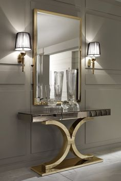 Mirrors are fundamental pieces for any interior, or decor style. Here we explore 10 decorative mirror designs for the modern home decor House Design, Interior Decorating, Interior, Luxury Furniture, Decor Interior Design, Entryway Decor, House Interior, Interior Design, Luxury Home Decor