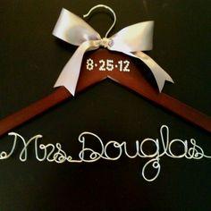 Bridal hanger with crystal date! Buy at: Www.gethungupshop.com Www.facebook.com/gethungup Gethungup@yahoo.com