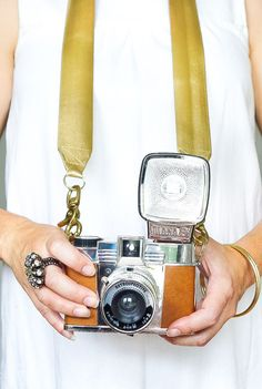 DIY Glam Camera Strap - Sugar & Cloth - DIY - Houston Blogger #cameras #camera #camerastrap