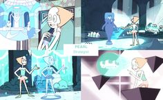 [Pearl making projectiond in the sea spire]• rose quartz ruby Character Design pearl amethyst opal sapphire garnet lapis lazuli steven universe sugilite dou-hong •