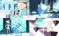 [Pearl making projectiond in the sea spire]• rose quartz ruby Character Design pearl amethyst opal sapphire garnet lapis lazuli steven universe sugilite dou-hong •
