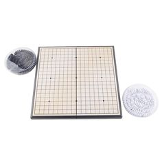 High Quality Foldable Convenient Game of Go Board Game WeiQi Baduk Full Set Stone 18x18 Study Size New