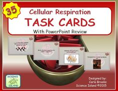35 Task Cards PLUS a PowerPoint Review designed for high school Biology. A great way to break down a challenging topic!
