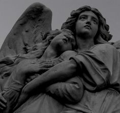 cemetery statuary photo by byrdiegyrl on flickr