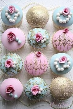 A Sweet Treat For A Bridal Shower Neapolitan Cupcakes! if for a baby boy, use blue frosting and a blueberry or blackberry topping! @ http://JuliesCafeBakery.com #cupcakes #recipe #cakes