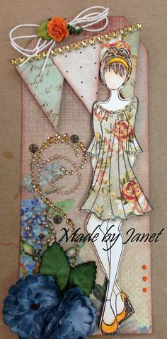 Julie Nutting stamps and banners Prima Paper Dolls, Prima Doll Stamps, Atc Cards, Card Tags, Gift Tags, Scrapbooking, Scrapbook Paper, Doll Crafts, Paper Crafts