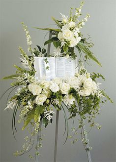 hydrangea funeral spray - Google Search