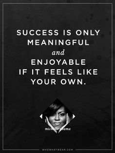 """""""Success is only mea"""