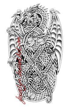 Celtic Dragon IX by Feivelyn on DeviantArt