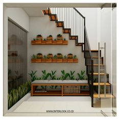 62 Super Ideas For Small Brick Patio Ideas House Tiny House Stairs, Stairs In Living Room, Tiny House Loft, Home Room Design, Small House Design, Home Interior Design, Small Brick Patio, Interior Stairs, Staircase Design