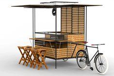 Source by baezrodney… Cafe Shop Design, Kiosk Design, Cafe Interior Design, Food Cart Design, Food Truck Design, Coffee Carts, Coffee Truck, Food Trucks, Mobile Coffee Shop