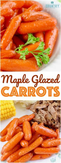 Maple Glazed Carrots recipe from The Country Cook