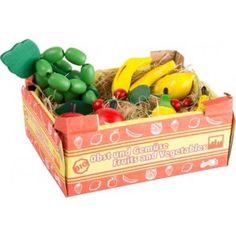 Cassetta con frutta e verdura legno gioco cucina bambina collezione idea regalo
