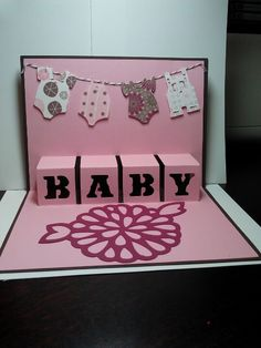 Baby Card made with Artfully Sent Cartridge-by Becky Drui