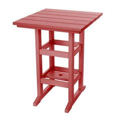 Durawood Red Counter Height Table
