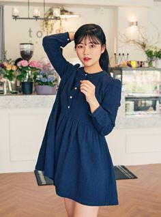 Crinkled Cotton Shirtwaist Dress                                                                                                                                                                                 Más
