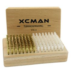 Xcスキーsnowbaordノルディックスキーがけツールチューニングがけ機器コンボスキーがけブラシで自然ブナ木材(真鍮とナイロン)