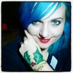 Holly glitter tattoo Glitter Tattoos, Fashion, Moda, Bright Tattoos, Fashion Styles, Fashion Illustrations, Tattoo Flash